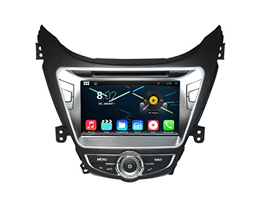 Generic Android 4.4 8 Inch 1024X600 resolution Hyundai Elantra 2012 Car DVD Navigation Audio Video GPS Stereo Radio Audio DVD Review