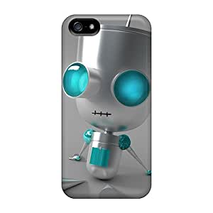 Shock Absorption Hard Phone Cover For Apple Iphone 5/5s (yfv498VDGk) Provide Private Custom Fashion Invader Zim Gir 3d Pictures