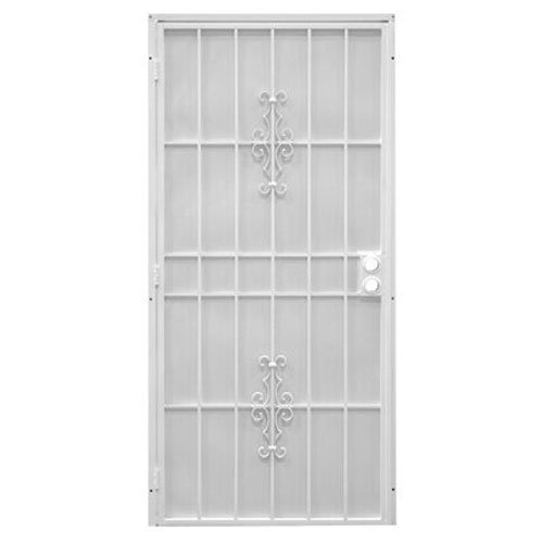 PRECISION SCREEN & SECURITY PROD 3853WH3068 Steel Security Door, 39 x 81-3/4'' by precision screen & security prod (Image #1)