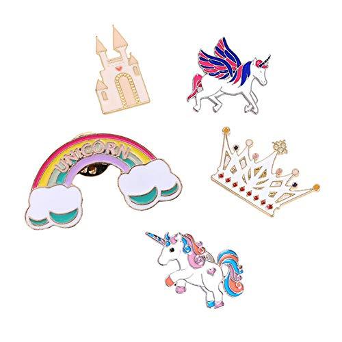 (Enamel Lapel Pin Set,Cute Unicorn Hat Pin for Women & Kids Brooch Pins for Clothing Bag Backpack Jackets & DIY Decor (Unicorn) )