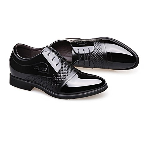 d'affari in WSK black scarpe uomo pizzo da scarpe pelle basse Frusta da scarpe Derby uomo traspirante in w5F5vTxq