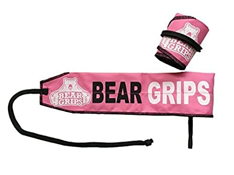 Bear Grips:Adjustable Strengthening Wrist Wraps, Patented Thumb Loop for Easy wrap, Wrist Brace for Workout, Ideal Wrist Support (camo, Black, Blue, Pink, one-Size, Pairs, Two Wrist Straps per Pack) wrist brace for wods workouts ideal wrist support (Black