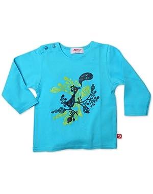 Baby Girls' Hello Friends Long Sleeve Screen T shirt