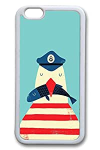 Brian114 6 plus Case, iPhone 6 plus Case - Scratch-Resistant Protective Case for iPhone 6 Plus Captain Penguin Perfect Fit White Soft Rubber Case for iPhone Plus 5.5 Inches