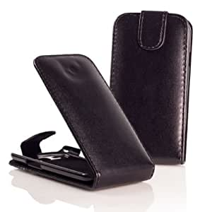 OZZZO LEATHER CASE COVER Color BLACK For SONY XPERIA T LT30p