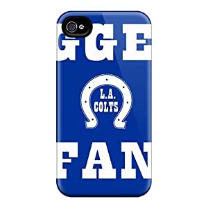 Iphone 4/4s OEO1350YlLP Support Personal Customs Fashion Indianapolis Colts Skin Durable Hard Phone Covers -Marycase88