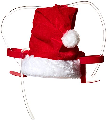 Wembley Men's Santa Drinking Hat for Santacon, red, One - Christmas Accessories