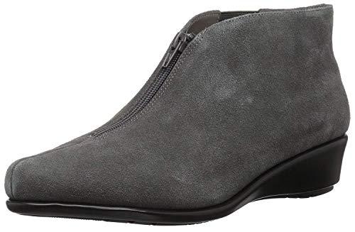 - Aerosoles Women's Allowance Ankle Boot, Dark Gray Suede, 7.5 M US