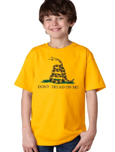 """GADSDEN FLAG Youth T-shirt / """"Don't Tread on Me"""" Revolutionary, Tea Party, Conservative Tee"""