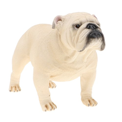 (Homyl Realistic Big Bulldog Animals Puppy Pet Figure Toys Wild Forest Farm Ocean Creatures Action Models Kids Educational Cognitive Statues Toy Home Decor)