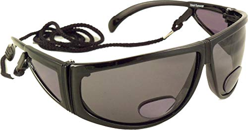Polarized Bifocal Sunglasses by Ideal Eyewear - Sun Readers with Retention Cord
