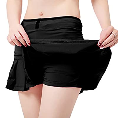 UDIY Women's Running Skorts Casual Gym Tennis Skirt with Shorts