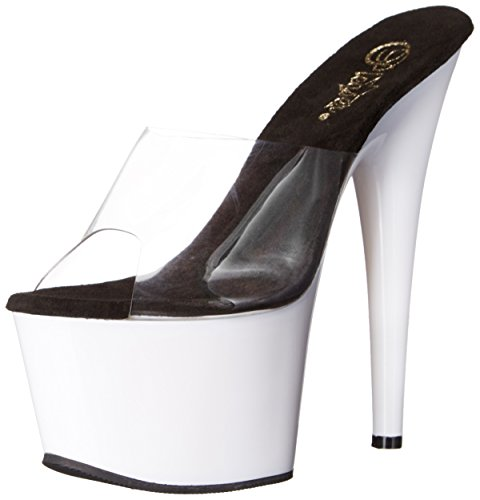White Sandal Women's Pleaser C Clear Dress Neon Platform Ado701uv NW 7dYdxzw