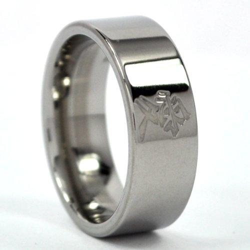 Amazoncom New Kanji Titanium Ring Love Bands Kanji Rings Free