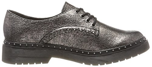 Cordones Platinum de Stru Zapatos Tamaris Mujer para Derby 23725 Plateado q84xw1t
