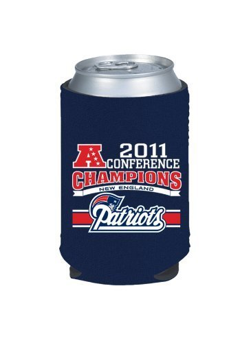 - 2011 AFC Champions New England Patriots Collapsible Can Kaddy Koozie Cooler
