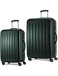 HAUPTSTADTKOFFER-Alex-Luggages Sets Glossy Suitcase Sets Hardside Spinner Trolley Expandable TSA 2 Piece Set