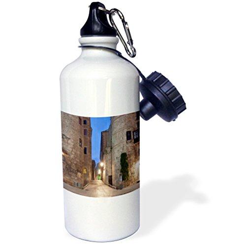 3dRose wb_139134_1 ''Old Roman Gate, Gothic Quarter, Barcelona, Spain EU27 RTI0031 Rob Tilley'' Sports Water Bottle, 21 oz, White by 3dRose