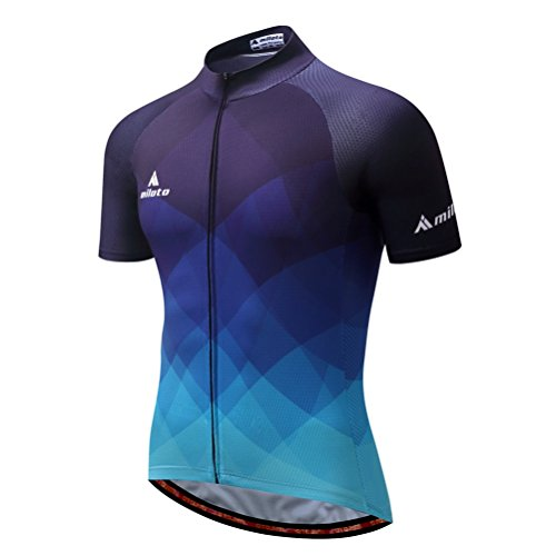 - Uriah Men's Cycling Jersey Short Sleeve Reflective Gradient Blue Size M(CN)
