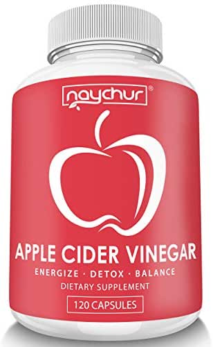 Apple Cider Vinegar Capsules - Detox Cleanse Diet Pills That Work Fast For Women Men – Support Weight Management Metabolism Hunger Appetite Control - Natural Bloating Relief Supplements – ACV Capsules