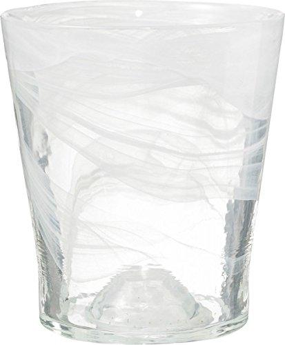 Glass Orchid Pot 14-transparent White SK