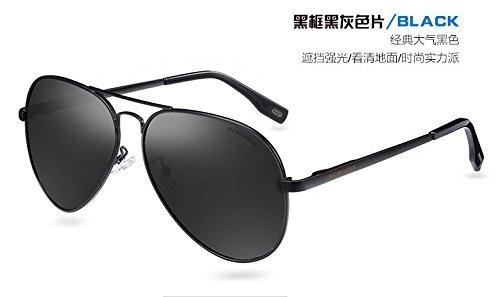 enfrentar una de de Black del KOMNY Rifle de Gafas pueblo conducción especial polarizadas HD Gray conductores gafas Black podría larga los cara gafas sol Gafas sol Frame XXzwUq4T