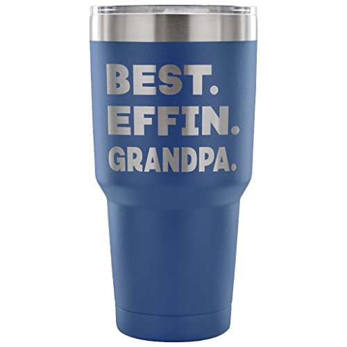 ArtsyMod BEST EFFIN GRANDPA Premium Vacuum Tumbler, PERFECT FUNNY GIFT for Your Grandfather from Granddaughter, Grandson! Humorous Gift, Attractive Water Tumbler, 30oz. (Pink Teddy Bear Candle Holder)