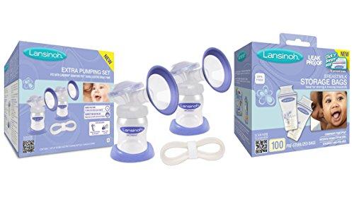 Lansinoh Extra Breast Pumping Set with Breastmilk Storage Ba