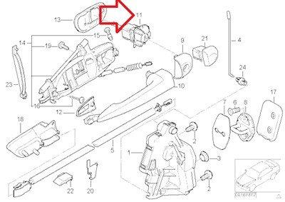 BMW Genuine Door Control Lock Cylinder with Key Front Left for 320i 323Ci 323i 325Ci 325i 325xi 328Ci 328i 330Ci 330i 330xi M3