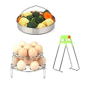 Cesta de vapor rack set para Instant Pot – Huevo Steamer rack/vegetal Steamer Cesta