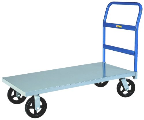 Little-Giant-NBB-3060-6MR-12-Gauge-Steel-Heavy-Duty-Platform-Truck-with-6-Mold-On-Rubber-Wheels-2000-lbs-Capacity-60-Length-x-30-Width