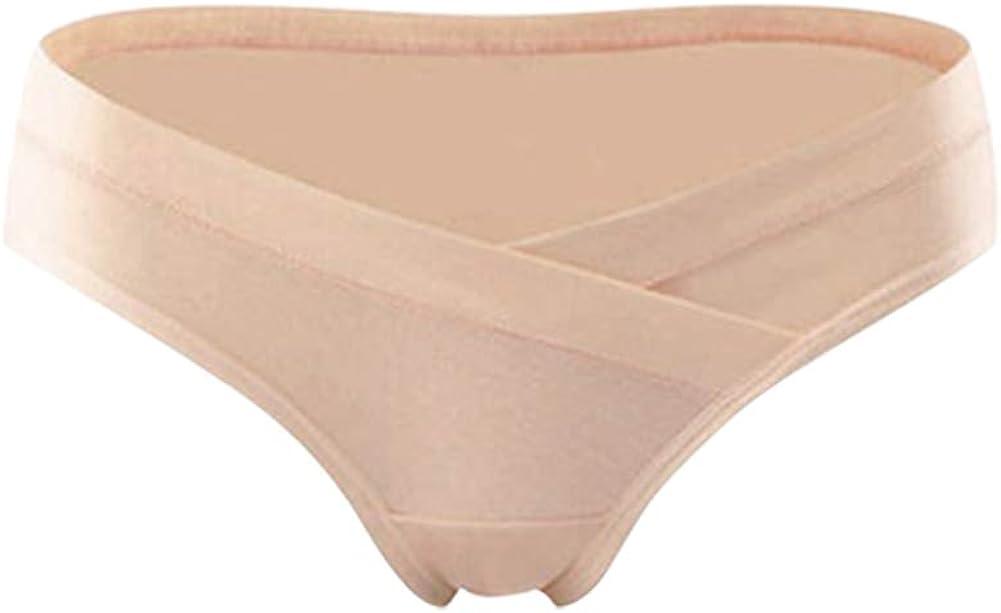 3 Piezas Premam/á Braguitas Embarazadas Faja de Maternidad Cintura Baja Suave Comodo Bragas de Algod/ón Gtagain Ropa Interior Mujer
