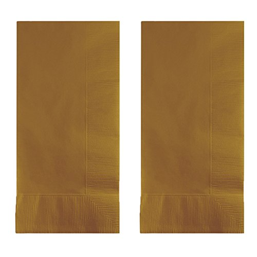 Glittering Gold Paper - Creative Converting Touch of Color 200 Count 2-Ply Paper Dinner Napkins, Glittering Gold