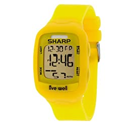 Sharp Shp8922 Live Well All-In-One Watch With Pedometer, Yellow