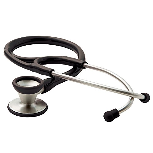 ADC Adscope 602 Traditional Cardiology Stethoscope, 28 inch Length, Black