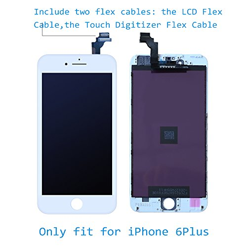 LCD Screen Replacement for iPhone 6 Plus 5.5'' White- GAVATE39 Digitizer for iPhone 6Plus with 3D Touch, Include Free Repair Tools kit & Detailed Instructions by GAVATE39 (Image #2)