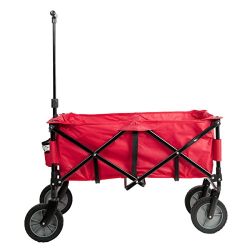 Portal-Folding-Camping-Wagon-Garden-Cart-Collapsible-All-Terrains-Red