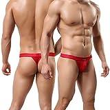 MuscleMate Premium Men's Thong G-String Underwear, Hot Men's Thong Undie, No Visible Lines