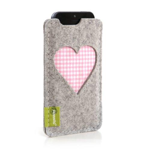 ALMWILD® Hülle, Tasche für iPhone SE, iPhone 5 - Serie in Alpstein - Grau - Modell