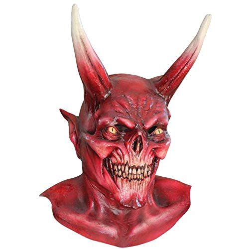 Halloween Devil Mask (Mask Head & Neck Devil Red)