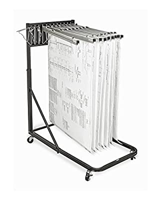 Adir Office Vertical File Rolling Stand for Blueprints