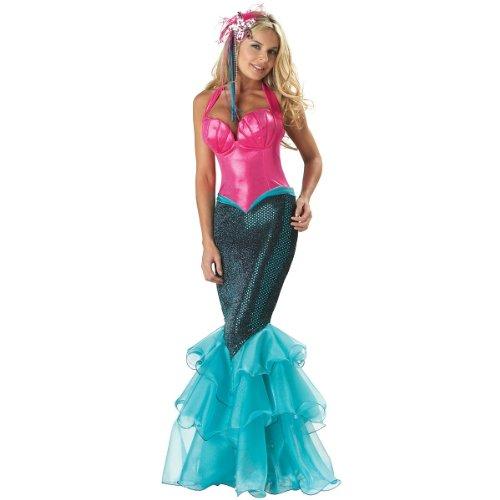 InCharacter Costumes Women's Mermaid Costume, Pink/Blue, Medium -