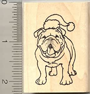 Christmas bulldog rubber stamp arts crafts for Rubber stamps arts and crafts