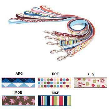 (Coastal Pet Products Ribbon Lead 1 Inch x 4 Feet Dots )