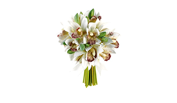 Rustic Silk Small Cymbidium Orchid Bouquet in Various Color