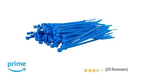 /Bridas para cables 200/mm x 7,6/mm/ Paquete de 100/de Negro Heavy Duty/ /PREMIUM alta calidad fuerte nylon Zip Ties por gocableties