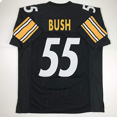 (Unsigned Devin Bush Pittsburgh Black Custom Stitched Football Jersey Size Men's XL New No Brands/Logos)