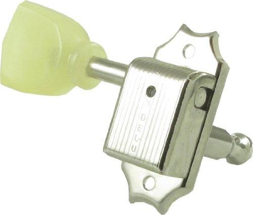 Kluson SD90SLN Tuners, 3 Per Side, Gibson Style, Nickel/Pearl