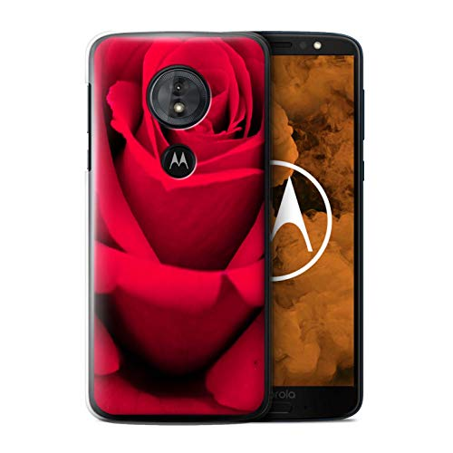 eSwish Phone Case/Cover for Motorola Moto G6 Play 2018 / Bright Rose Design/Floral Garden Flowers Collection