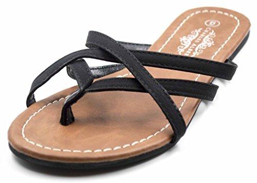 Charles Albert Women's Selene Strap Multi Sandal in Black Size: - Lim Philip London